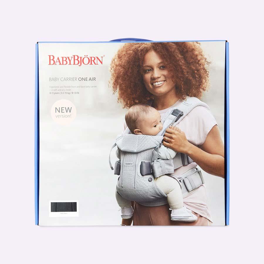 Black Mesh BabyBjorn Baby Carrier One Air