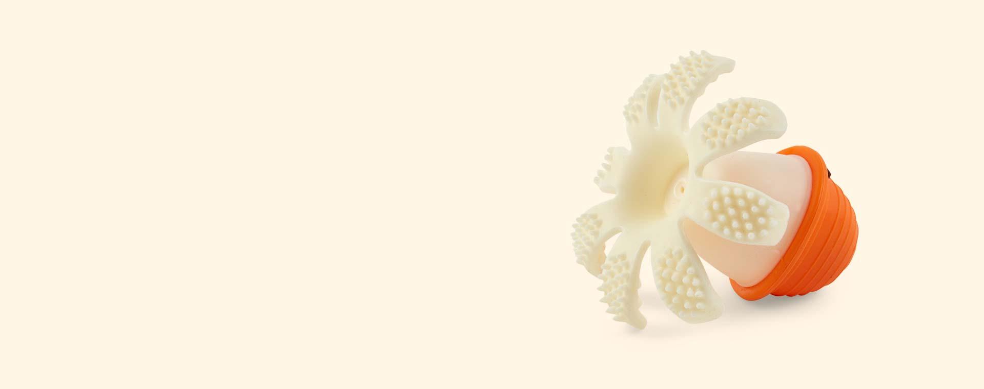 Orange Mombella Octopus Teether