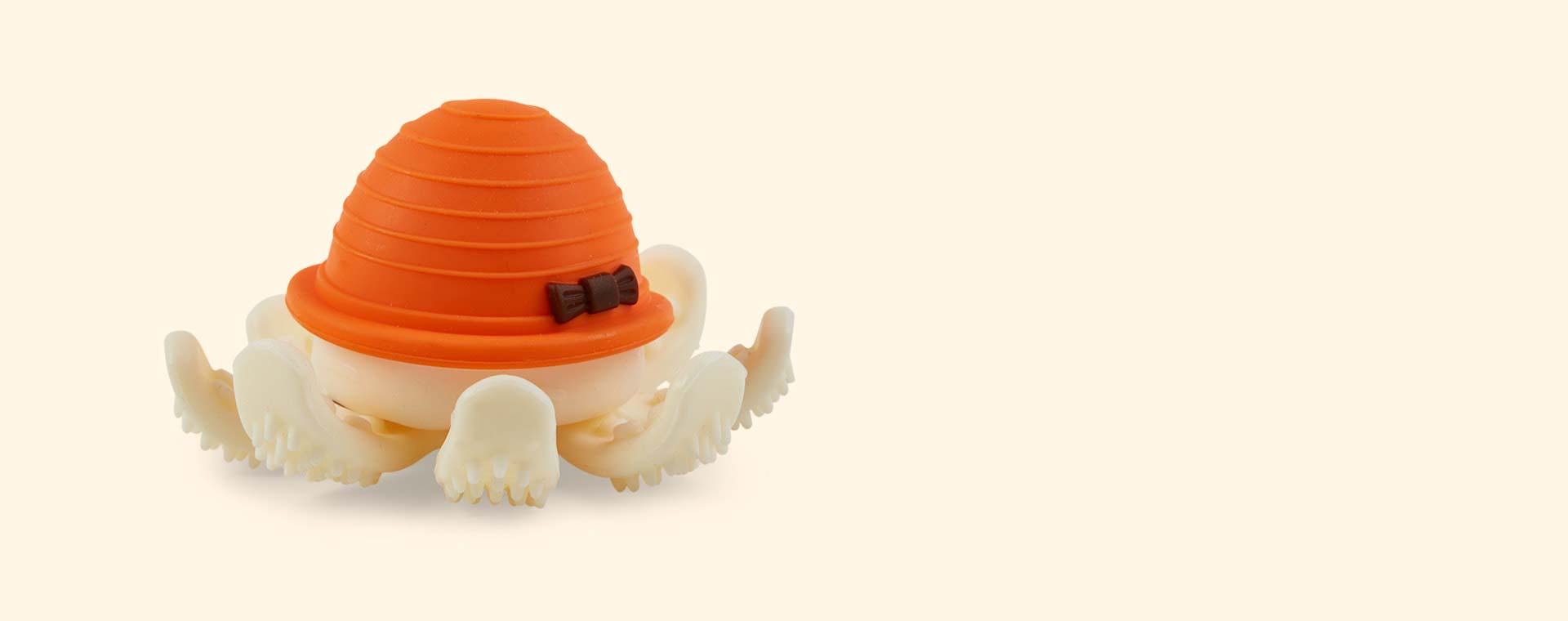 Orange Mombella Octopus Teether