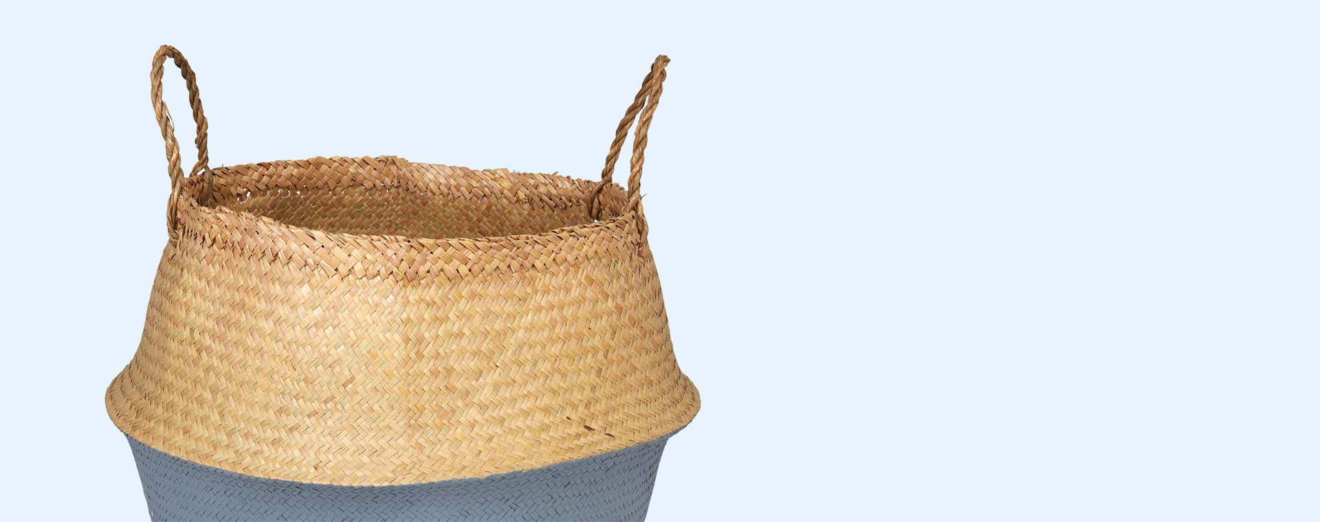 Grey Bloomingville Large Seagrass Basket