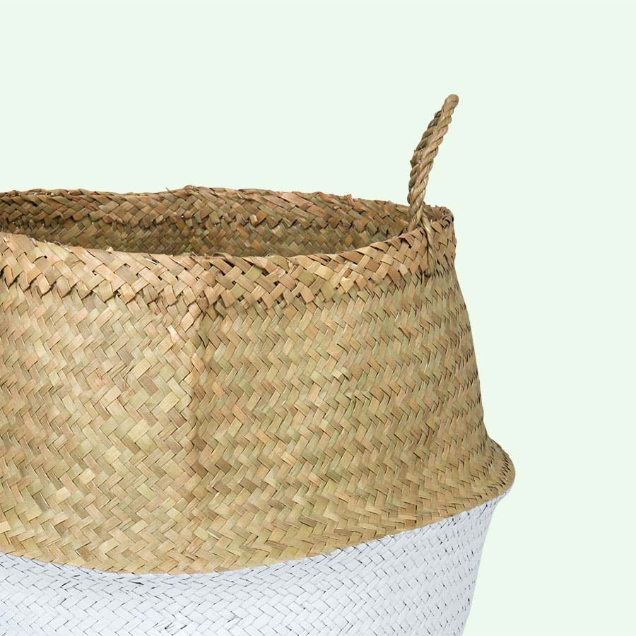 White Bloomingville Large Seagrass Basket