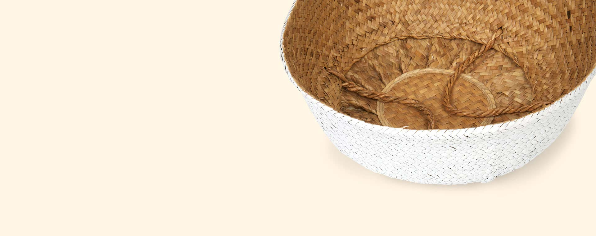 White Bloomingville Small Seagrass Basket