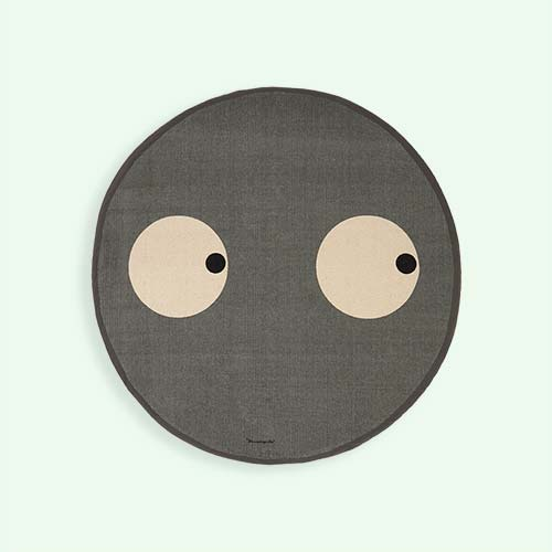Grey Bloomingville Open Eyes Rug