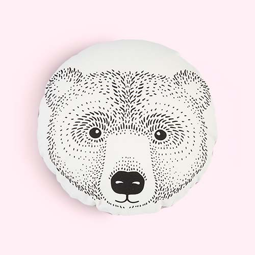 Neutral Bloomingville Bear Cushion