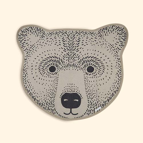 Neutral Bloomingville Bear Rug