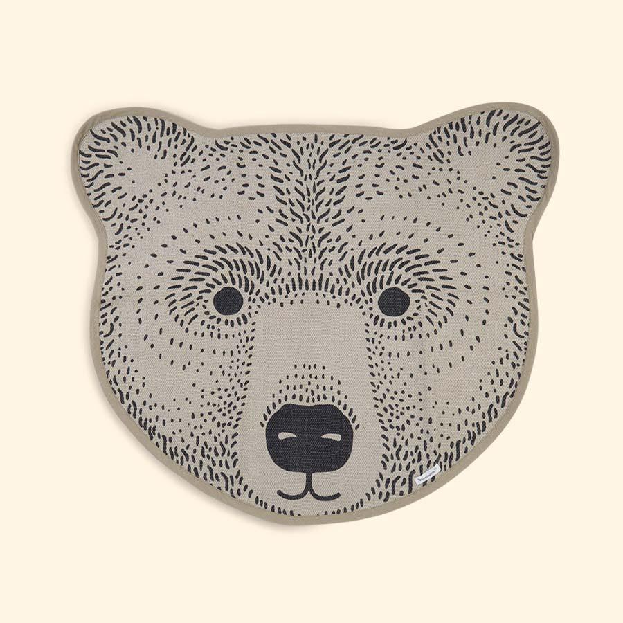Neutral Bloomingville Bear Rug