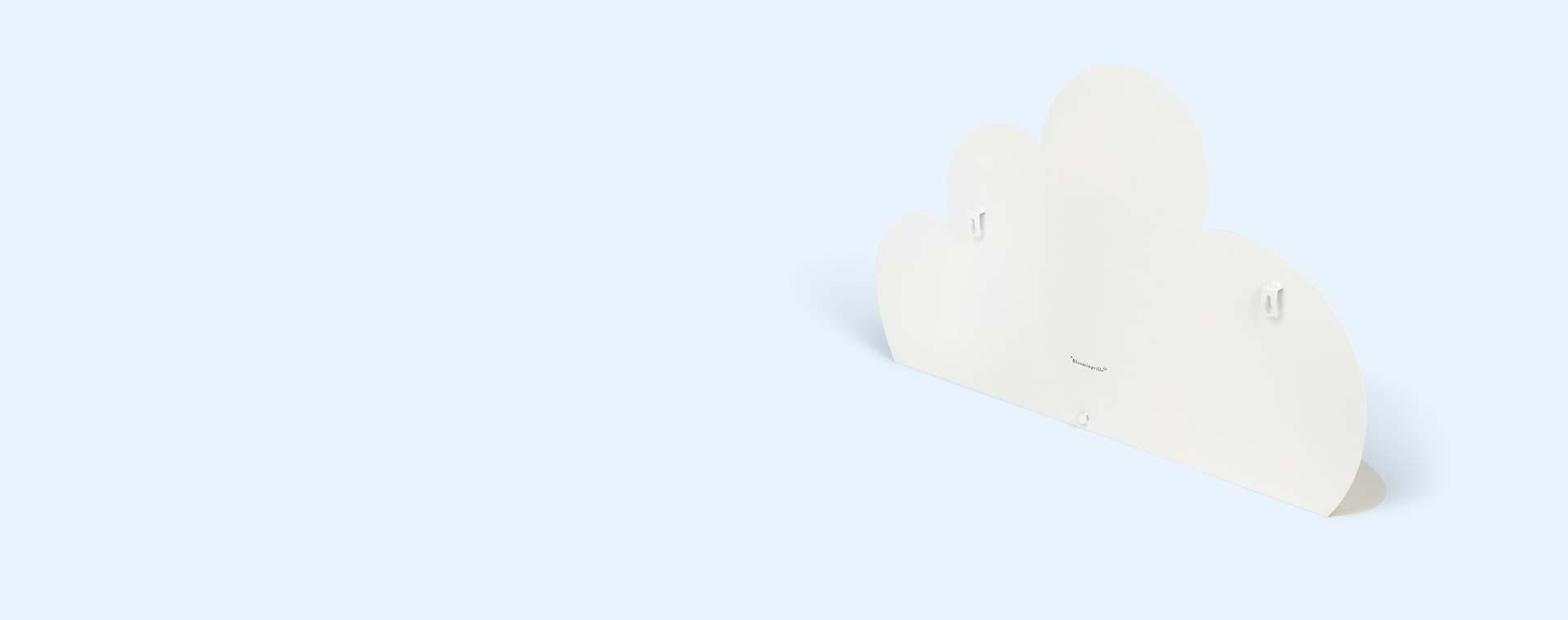 White Bloomingville Large Metal Cloud Shelf
