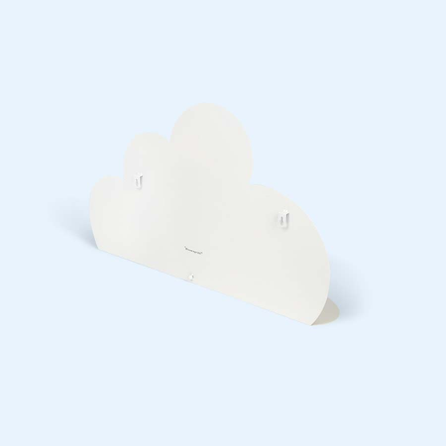 White Bloomingville Large Metal Cloud Shelf