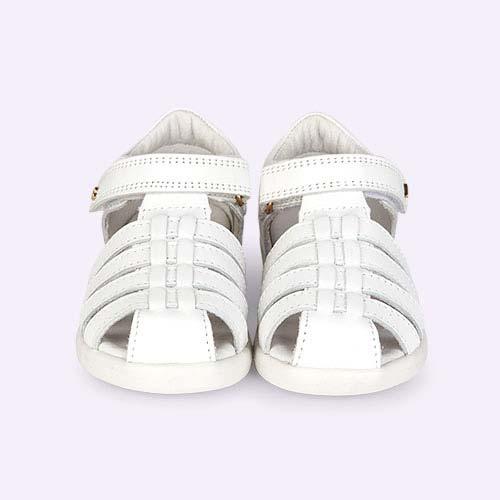 White Bobux I-Walk Jump Sandal