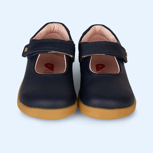 Navy Bobux I-Walk Delight Mary Jane Shoe