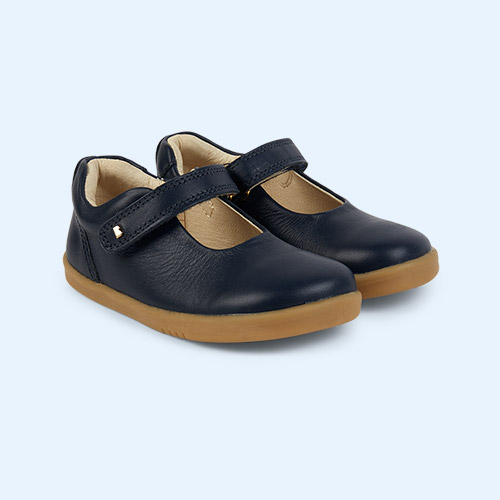 New Navy Bobux I-Walk Delight Mary Jane Shoe