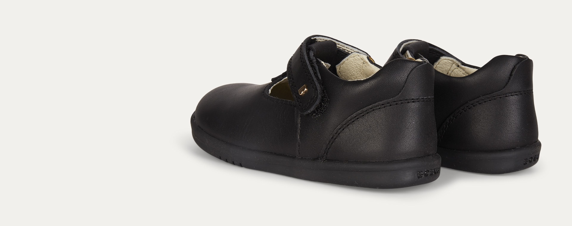 Black Bobux I-Walk Louise T-bar Shoe