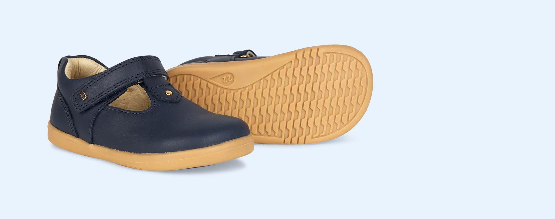 Navy Bobux I-Walk Louise T-bar Shoe