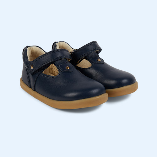 Navy Bobux I-Walk Louise T-bar Shoe