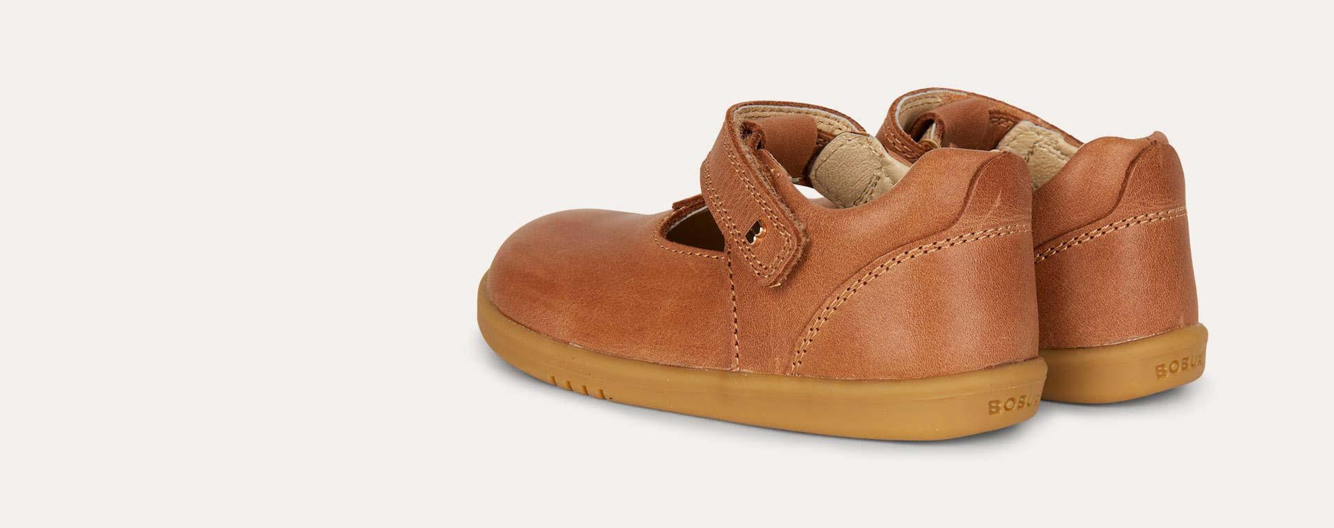 Caramel Bobux I-Walk Louise T-bar Shoe