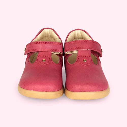 Dark Pink Bobux I-Walk Louise T-bar Shoe