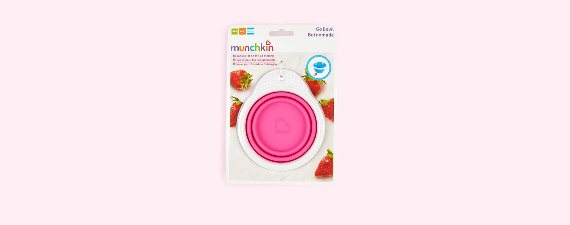Pink Munchkin Go Bowl