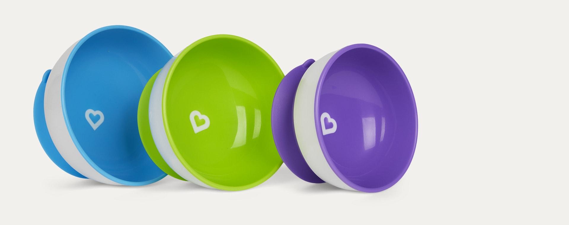 Multi Munchkin 3-Pack Stay Put Suction Bowls