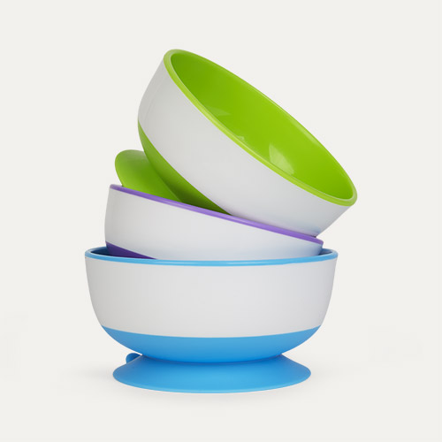 Multi Munchkin 3-Pack Stay Put Suction Bowls