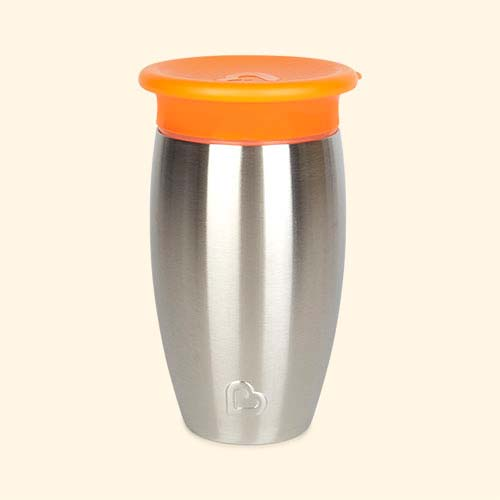 Orange Munchkin Stainless Steel Miracle Cup