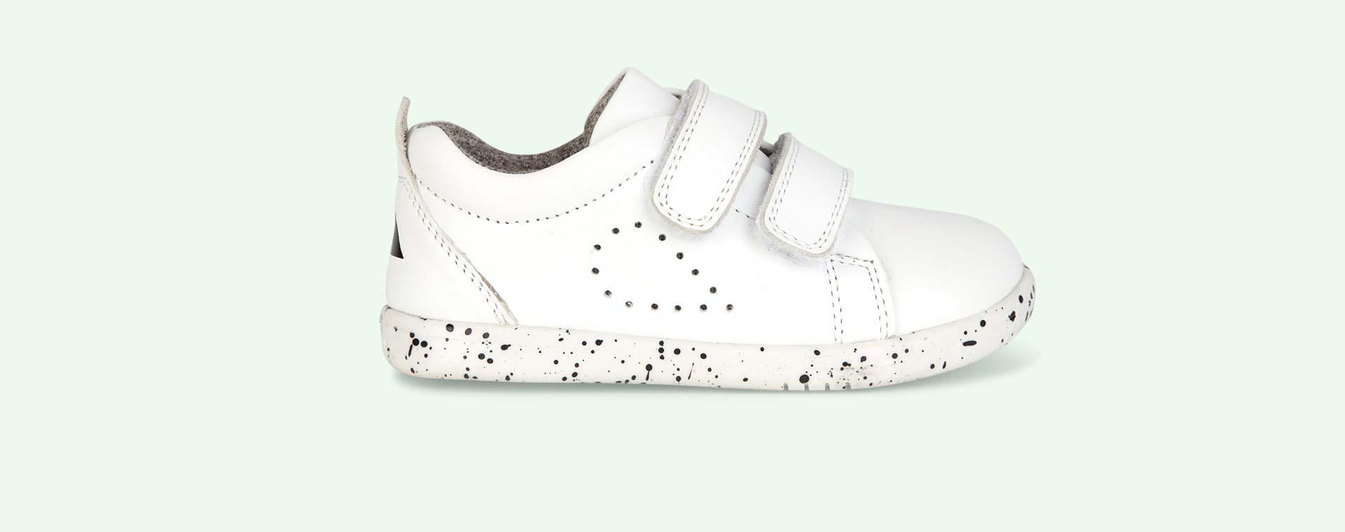 White Bobux I-Walk Grass Court Walk Trainer