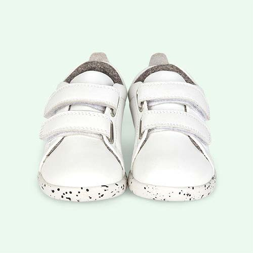 White Bobux I-Walk Grass Court Walk Trainer