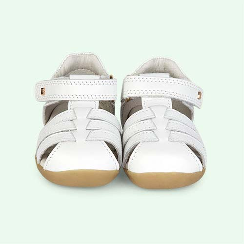 White Bobux Step-Up Jump Sandal