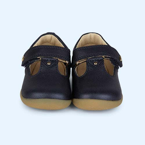 Navy Bobux Step-Up Louise T-bar Shoe