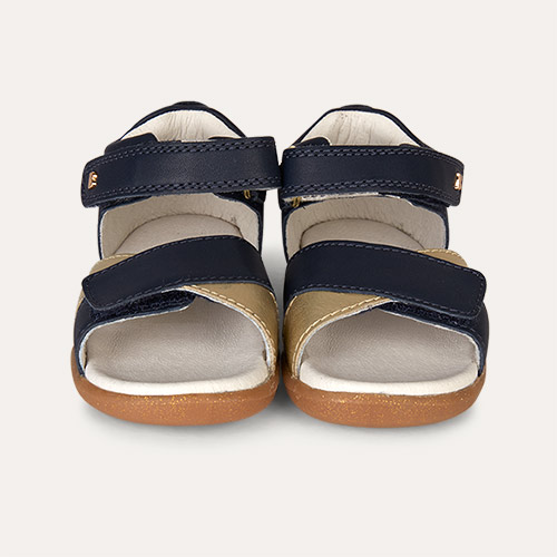 Navy & Gold Bobux Step-Up Sail Sandal