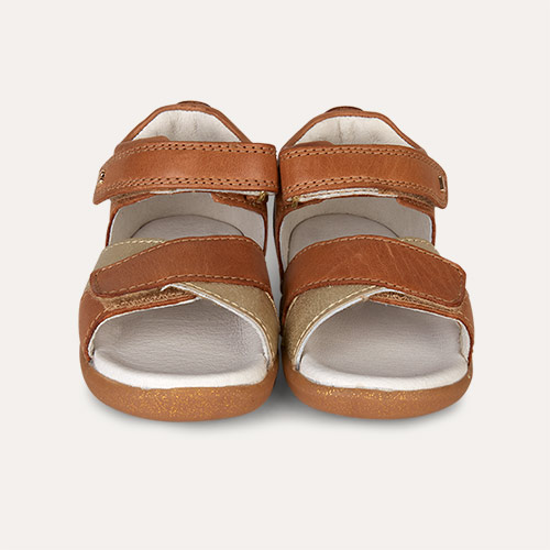 Caramel & Gold Bobux Step-Up Sail Sandal