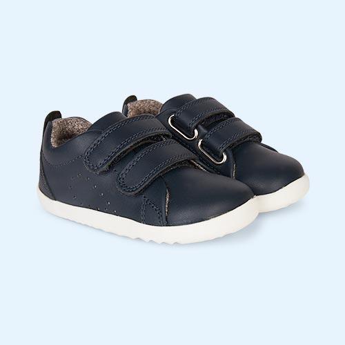 Navy Bobux Step-Up Grass Court Trainer