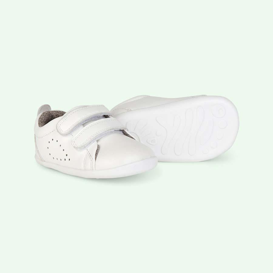 White Bobux Step-Up Grass Court Trainer