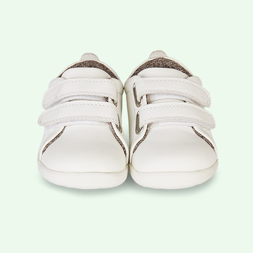 White Bobux Step-Up Grass Court Trainer