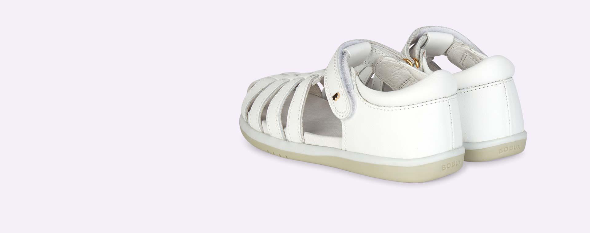 White Bobux Kid+ Jump Sandal