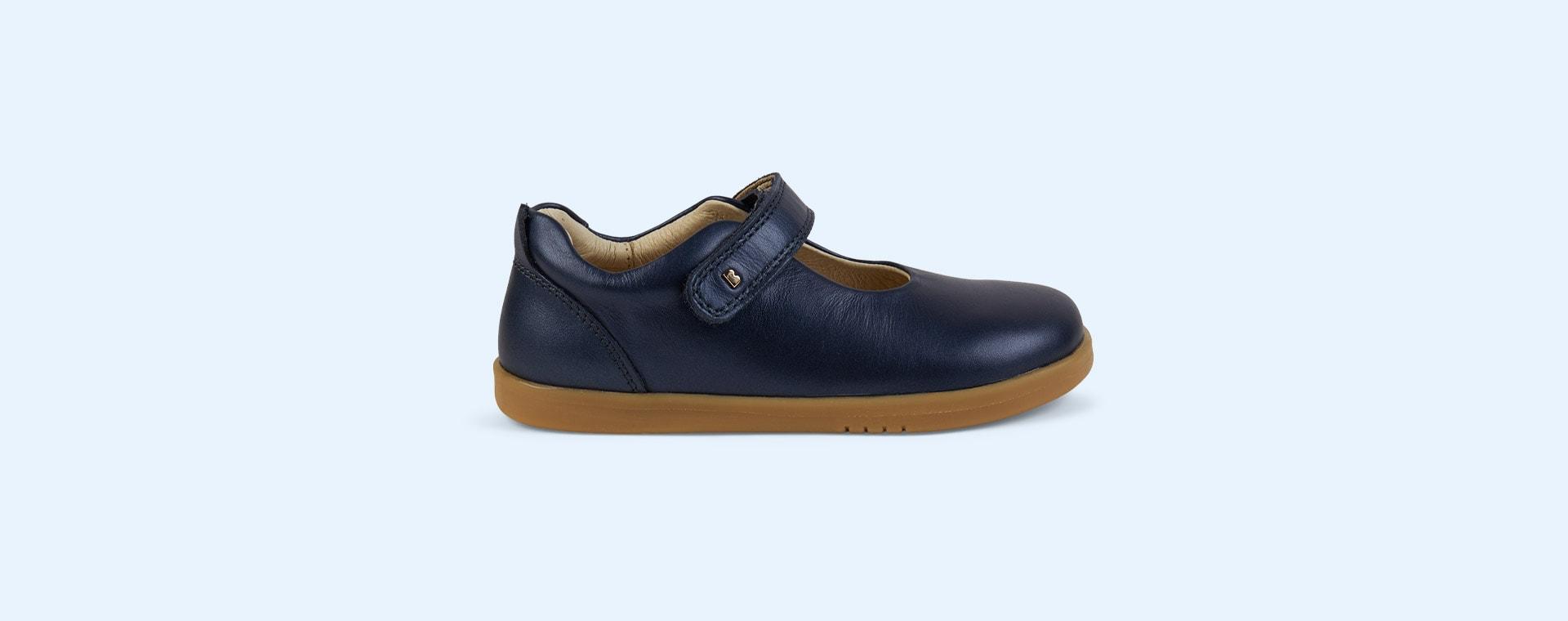 Navy Bobux Kid+ Delight Mary Jane Shoe
