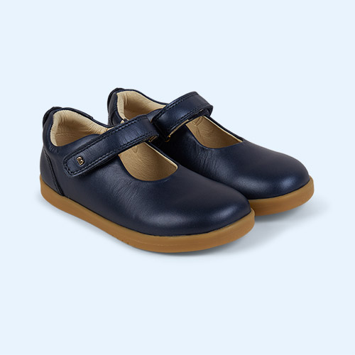 Navy Bobux Kid+ Delight Mary Jane Shoe