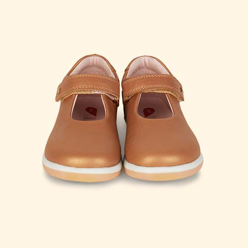 Caramel Shimmer Bobux Kid+ Delight Mary Jane Shoe