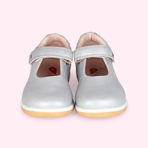 Silver Bobux Kid+ Delight Mary Jane Shoe