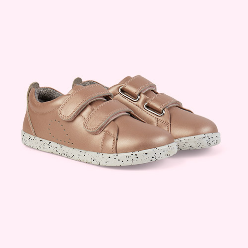 Rose Gold Bobux Kid+ Grass Court Trainer
