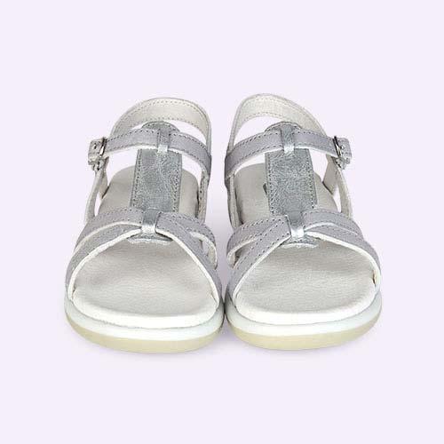 Silver Bobux Kid+ Pixie Sandal