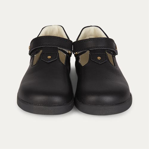Black Bobux Kid+ Louise T-bar Shoe