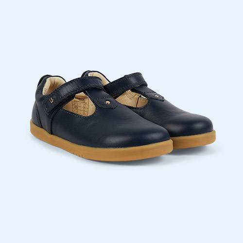 Navy Bobux Kid+ Louise T-bar Shoe