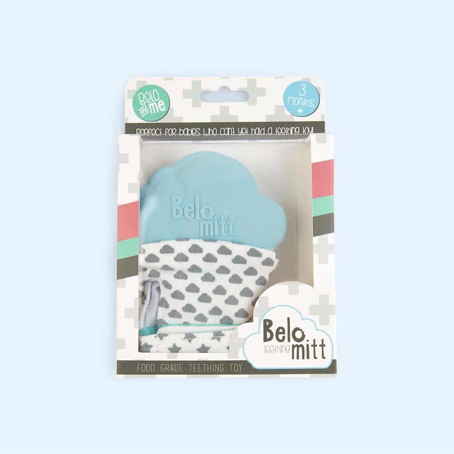 Blue Belo & Me Belo Teething Mitt