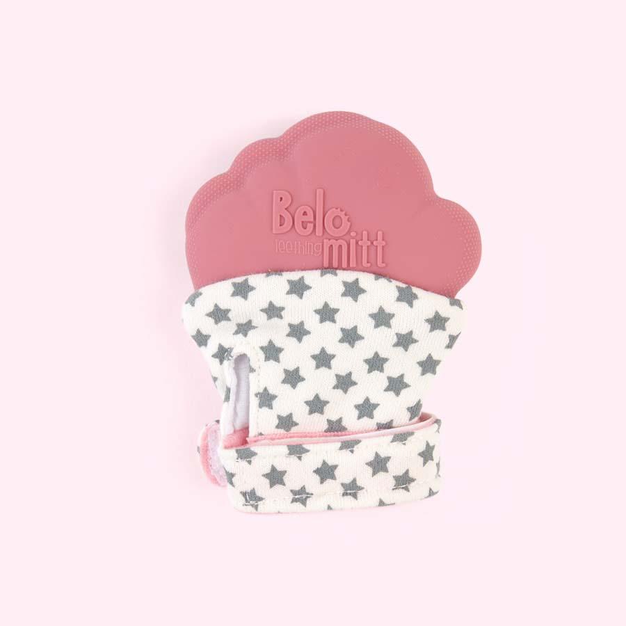Pink Belo & Me Belo Teething Mitt