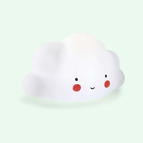 White A Little Lovely Company Mini Cloud Light