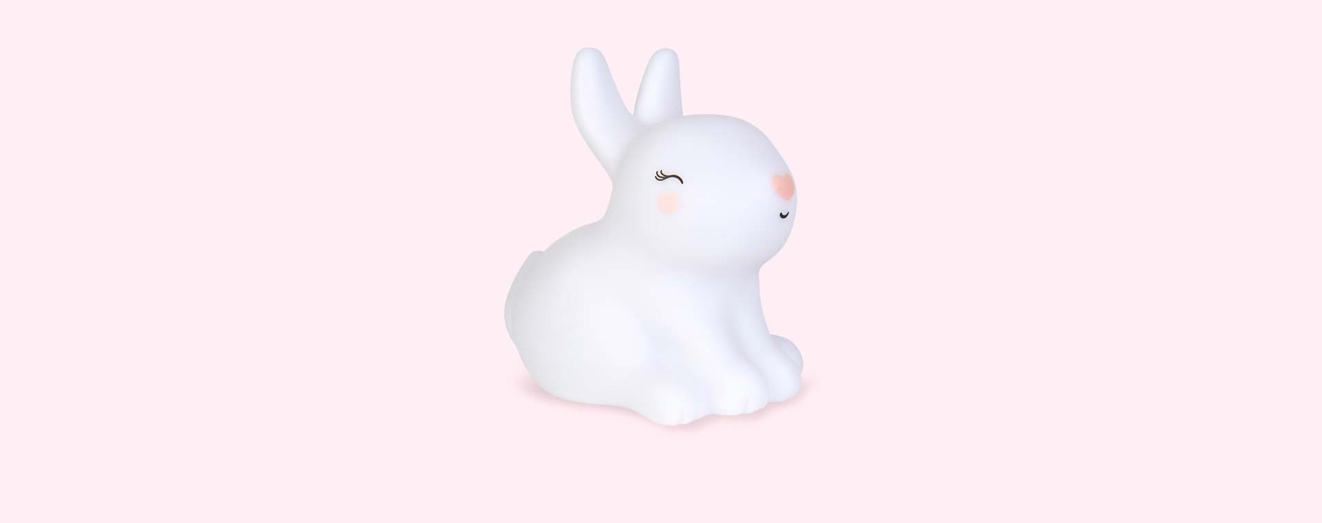 White A Little Lovely Company Little Bunny Light