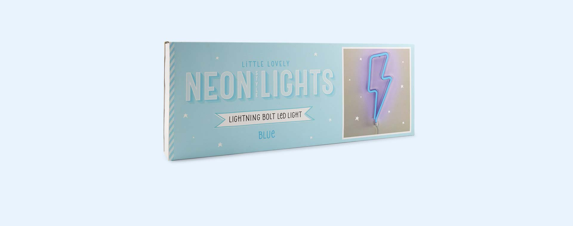 Blue A Little Lovely Company Lightning Bolt Neon-Style Light