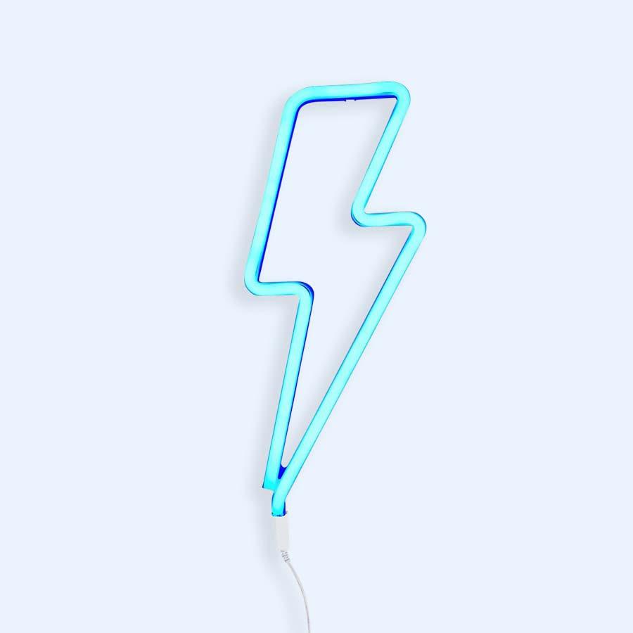 Blue A Little Lovely Company Lightning Bolt Neon-Style Light