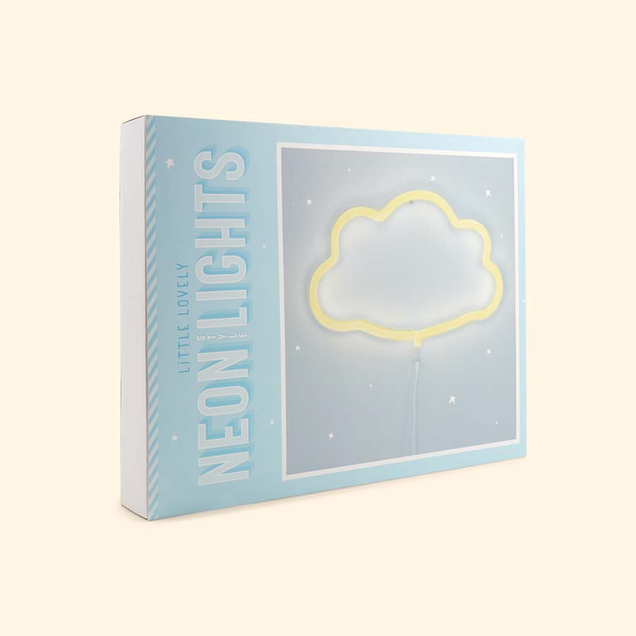 Yellow A Little Lovely Company Cloud Neon Style Light