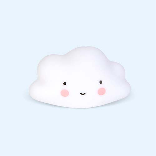 White A Little Lovely Company Cloud Bath Toy
